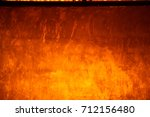 yellow background cement wall   | Shutterstock . vector #712156480