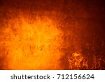 yellow background cement wall   | Shutterstock . vector #712156624