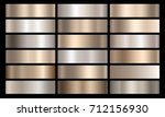 silver  bronze and gold foil... | Shutterstock .eps vector #712156930