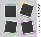 frames of photo with shadow pin ... | Shutterstock .eps vector #712156933