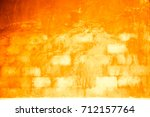 wall  yellow background plaster ... | Shutterstock . vector #712157764