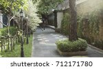 courtyard garden | Shutterstock . vector #712171780