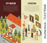 fine art museum gallery...   Shutterstock . vector #712175068