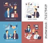 business management skills... | Shutterstock . vector #712175419