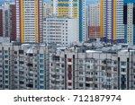 dormitory buildings in a...   Shutterstock . vector #712187974