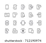 minimal set of mobile phone... | Shutterstock .eps vector #712190974