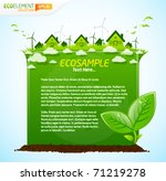 green eco sample template with...
