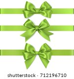 set of beautiful green bow for... | Shutterstock .eps vector #712196710