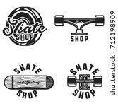 vintage skate shop emblems | Shutterstock .eps vector #712198909