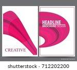abstract vector modern flyers... | Shutterstock .eps vector #712202200
