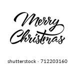 merry christmas lettering in... | Shutterstock .eps vector #712203160