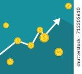 finance growth. business graph... | Shutterstock .eps vector #712203610