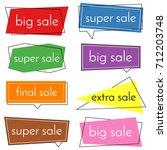 set of eight sale bannes with... | Shutterstock . vector #712203748