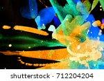 abstract watercolor texture.... | Shutterstock . vector #712204204