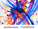 abstract watercolor texture.... | Shutterstock . vector #712204210