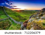 Sunset At Hadrian's Wall In...