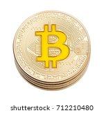 golden cruptocurrency yellow... | Shutterstock . vector #712210480