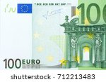 Macro details of one hundred euro banknote. High resolution photo. - stock photo