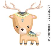 tribal deer | Shutterstock .eps vector #712216774