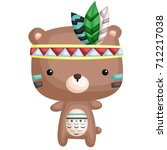 tribal bear | Shutterstock .eps vector #712217038