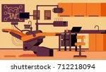 dentist office illustrations | Shutterstock .eps vector #712218094