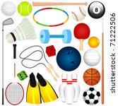 vector of different balls ... | Shutterstock .eps vector #71222506
