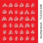 alphabet in modern style with...   Shutterstock . vector #712231108