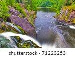 waterfall and green forest near ... | Shutterstock . vector #71223253