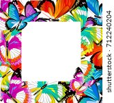 beautiful color butterflies set ... | Shutterstock .eps vector #712240204