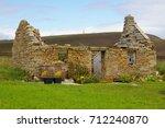 Ruined Stone Croft Cottage On...
