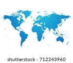 world map hand drawing vector... | Shutterstock .eps vector #712243960