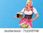 young sexy oktoberfest girl  ... | Shutterstock . vector #712245748