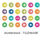 arrow sign color circle icon ... | Shutterstock .eps vector #712246108