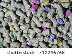cellulose filler for cat litter ... | Shutterstock . vector #712246768