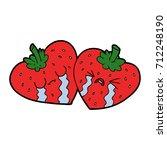 cartoon strawberries   Shutterstock .eps vector #712248190