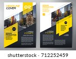 business brochure. flyer design.... | Shutterstock .eps vector #712252459