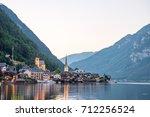 scenic view of famous hallstatt ...   Shutterstock . vector #712256524
