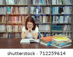 young student asian girl with... | Shutterstock . vector #712259614