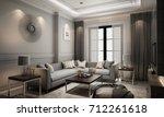 interior living modern classic... | Shutterstock . vector #712261618