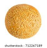 burger bun isolated on white... | Shutterstock . vector #712267189