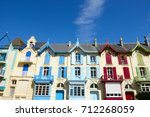 traditional and colorful houses ... | Shutterstock . vector #712268059