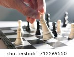 playing chess | Shutterstock . vector #712269550