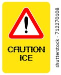 a poster warning of the... | Shutterstock .eps vector #712270108
