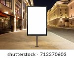 blank street billboard at night ...   Shutterstock . vector #712270603