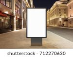 blank street billboard at night ... | Shutterstock . vector #712270630