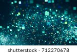 abstract square bokeh.... | Shutterstock . vector #712270678