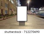 blank street billboard at night ... | Shutterstock . vector #712270690