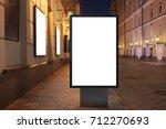 blank street billboard at night ...   Shutterstock . vector #712270693