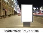 blank street billboard at night ... | Shutterstock . vector #712270708