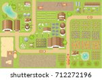 vector illustration. green farm.... | Shutterstock .eps vector #712272196